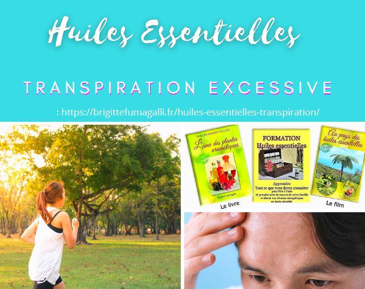La transpiration excessive : quelles huiles essentielles ?
